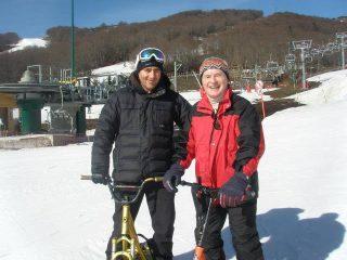 Stéphane Courtial vous initie au snowscoot !