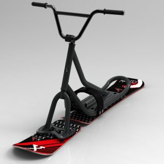 snowscoot 106 grey board X2 invaders red 2