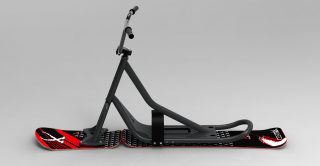 snowscoot 106 grey board X2 invaders red