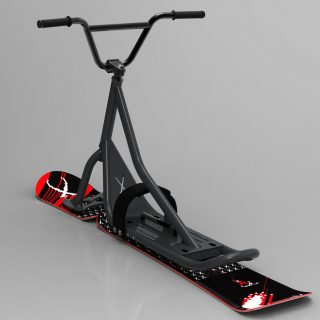 snowscoot 106 grey board X2 invaders red 3