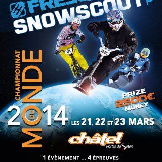Affiche des championnats du monde 2014 à Châtel
