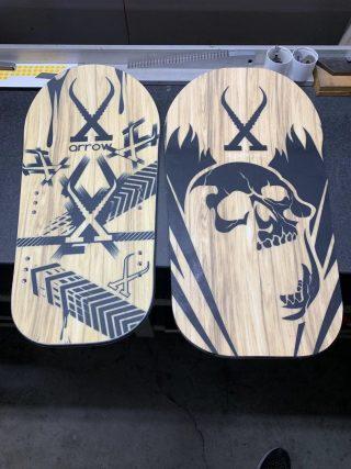 Board avant centsix race arrow wood et fat rigormortix wood