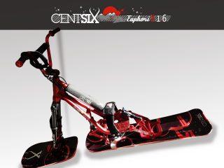 Snowscoot Centsix EuphoriX 1.6 rouge et boards Centsix GalactX rouges