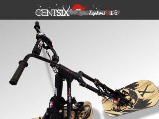 Snowscoot Centsix EuphoriX 1.6 noir et boards Centsix Rigor Mortix wood